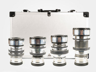 Set of 4 Silver  Anamorphic Flare & Bokeh Amber Lenses  with micro 4/3 mount