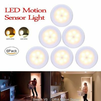 Round LED Night Light PIR Motion Sensor Infrared Wireless Battery Powered Lamp