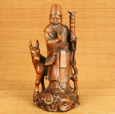 chang kuo-lao old boxwood figure statue netsuke collectable gift eight buddha