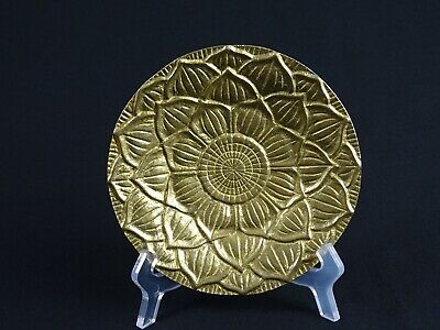 RARE Antique Chinese 24K Gold Ormolu Gilt Bronze Palace Lotus Offering Bowl Qing