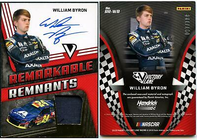William Byron #RR-WB Victory Lane 2018 Remarkable Remnants Auto/Relic #87/199