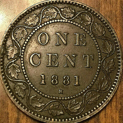 1881H CANADA LARGE CENT PENNY LARGE 1 CENT - Excellent example!