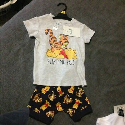 winnie the pooh and tigger 2pce set size 1 infants
