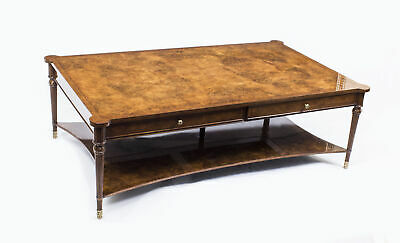 Bespoke Contemporary Burr Walnut Coffee Table With Two Drawers 21st C