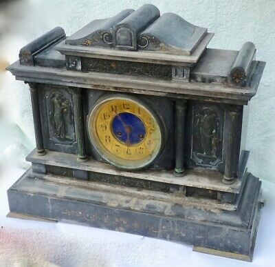 Antique marble case clock, well over 100 years old, restoration project