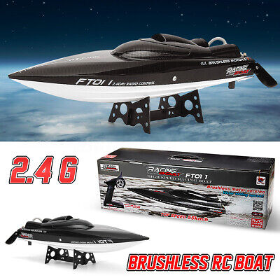 FeiLun FT011 2.4GHz RC Racing Boat Brushless Motor 55km/h+US Plug+Remote Control