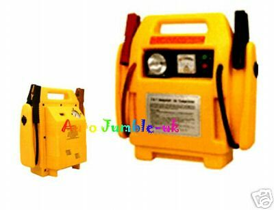 12v Jump Start Booster + lamp + compressor battery boost portable 12v power pack