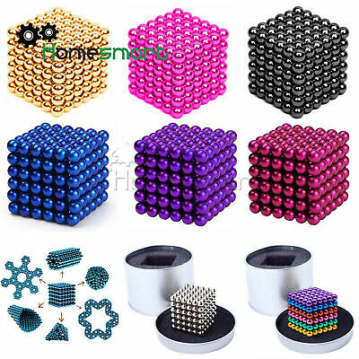 216PCS 3/5mm Magic Magnets Ball Neodymium Sphere 3D Puzzle Cube Stress AHS