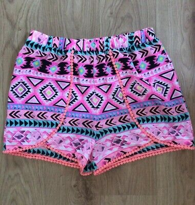 Candy Couture (Matalan) Girls Pink Patterned Shorts Age 16 Years