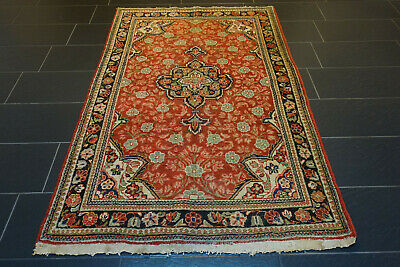 Alter Handgeknüpfter Perser Orientteppich Sarough MAHAL Old Carpet Rug 210x130cm