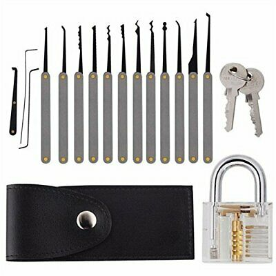 Kit de Crochetage 12pcs Pathonor Cadenas Transparent Pratique Cadenas avec Dé...