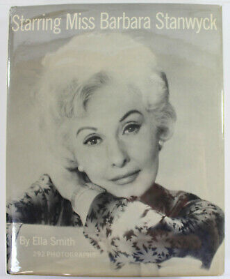 Barbara Stanwyck Signed Autographed Starring Miss Barbara Stanwyck Book, Sinatra