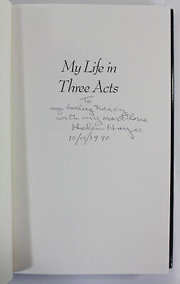 Helen Hayes, My Life Signed Autographed Autobiography to Nancy Sinatra Sr.