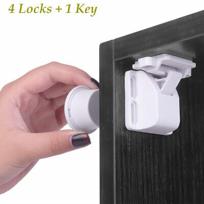 Kids Invisible Drawer Locker Child Protection Magnetic Child Lock Baby Safety