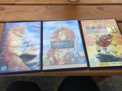 lion king dvd trilogy