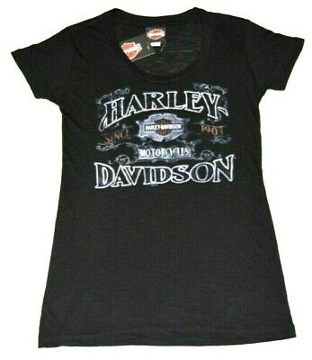 Harley-Davidson Women's T-Shirts - Various Great Styles in Black, Medium Size!!!