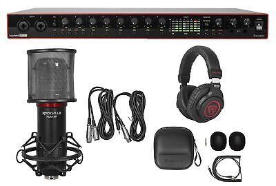Focusrite SCARLETT 18I20 3rd Gen USB Audio Recording Interface+Mic+Headphones