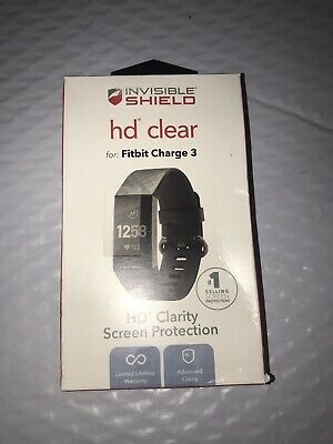 ZAGG Invisible Shield HD Clear Screen Protector for Fitbit Charge 3
