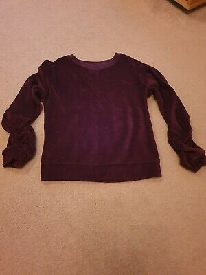 Next Girls Age 8 Velour Rouched Sleeved Jumper