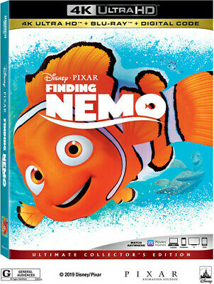 Finding Nemo [New 4K Ultra HD] With Blu-Ray, 4K Mastering, Ac-3/Dolby Digital,