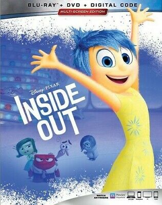 Inside Out [New Blu-ray] With DVD, 3 Pack, Ac-3/Dolby Digital, Digital Copy, D