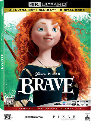 Brave [New 4K Ultra HD] With Blu-Ray, 4K Mastering, Ac-3/Dolby Digital, Digita