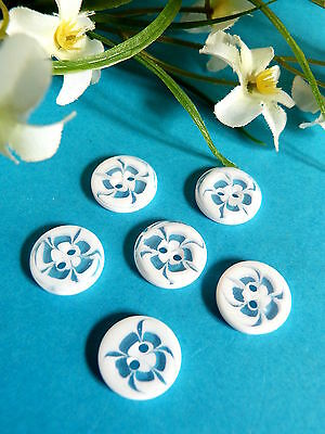 "424B/Lovely Small Buttons Classic "" Chantilly "" Set of 6 Buttons"