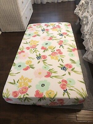 Cloud Island Floral Fitted Crib Sheet