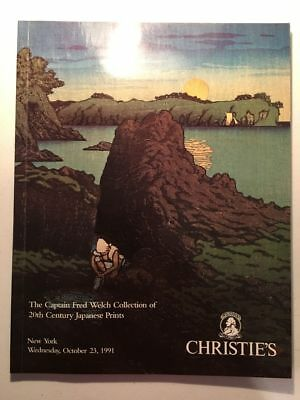 1991 CHRISTIE'S AUCTION Catalog JAPANESE PRINTS Fred Welch PAINTINGS Japan ART