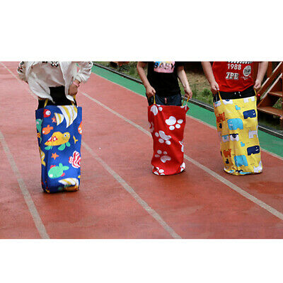 Kids Potato Sack Race Bags Children's Birthday Party Game Outdoor Games