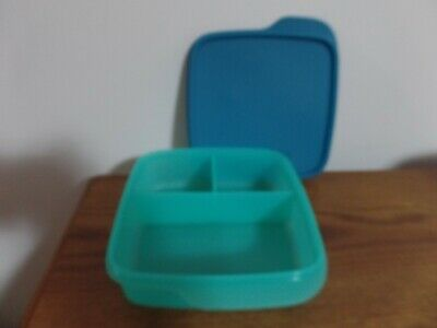 Tupperware Divided Lunch-It Dish Lunch Container ~ Paradise / Peacock ~ NEW