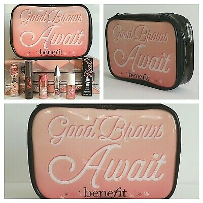 Benefit Set❤Gimme Brow,They're Real,Posie Balm/Tint + Makeup Bag❤AUTHENTIC