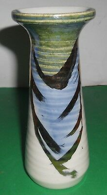 Vase With Gold, Blue And Green