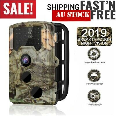 2019 1080P HD Hunting Trail Camera Wildlife Scouting Night Vision Motion Sensor