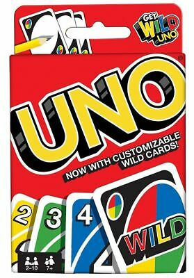 Uno-Card-Game With Customizable Wild Cards Family Friend Party Fun By Mattel