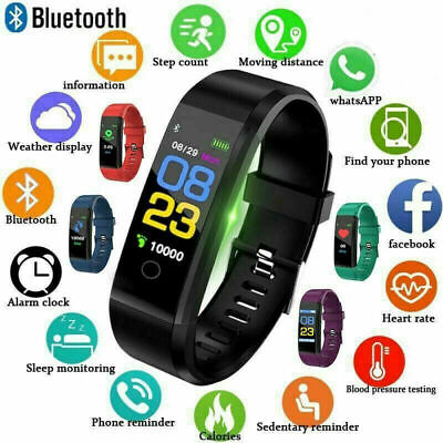 Fitness Smart Watch Activity Tracker Women Men Fitbit Android iOS Heart Rate