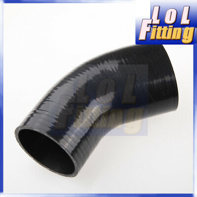 ID63mm  2.5/'/' Inch 45 Degree Elbow Silicone  Intercooler Coupler Hose Pipe Black