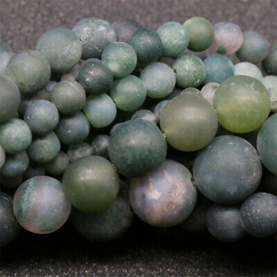 Nature Frosted Aquatic Agate Beads Diy Accessories Styles Spacer Stone Gemstone