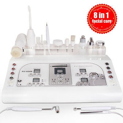 8in1 Ultrasonic Massage Mole Removal High Frequency Skin Lifting Cleaner Machine