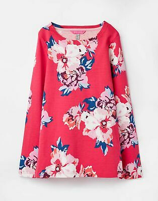 Joules 207092 Printed Jersey Top Shirt in PINK FLORAL