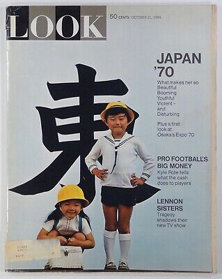 1969 Oct 21 LOOK MAGAZINE Osaka EXPO '70 Lennon Sisters PRO FOOTBALL car ads &c