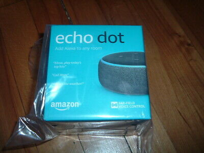 Amazon Echo Dot~ 3Rd Generation~ Brand New~ Smart Speaker~ Alexa~ Charcoal~