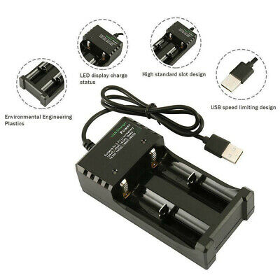 18650 USB Battery Charger Fast Charge Dual for 3.7V 16340 14500 26650 CY2