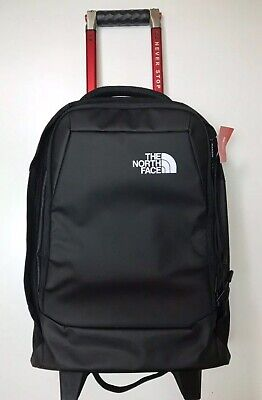 """The North Face Accona (Rolling Thunder) 19"""" Carry On Travel Suitcase TNF Black"""