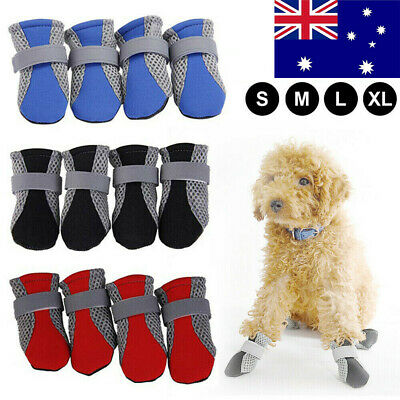 AU Pet Dog Shoes Waterproof Anti Slip Shoes Protective Rain Boots Booties Sock b