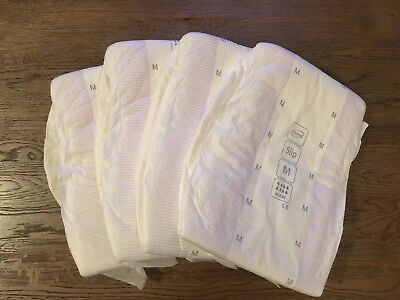 4x TENA MEDIUM MAXI - ABDL - Adult Nappies/Diapers (plastic pants/disposable)