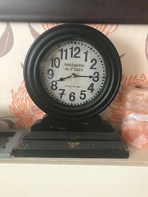 Black Next Home Antique look Mantle Clock - French (PARIS)
