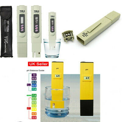 TDS EC LCD Digital Pure Water Quality Tester Meter 0-9990PPM Filter Pen Stick UK