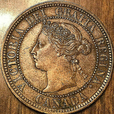 1887 CANADA LARGE CENT PENNY LARGE 1 CENT - Excellent example!