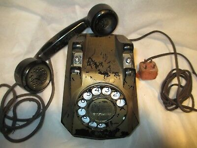 Vintage Telephone *WORKS* Monophone with Cloth Cords - Automatic Electric Co.